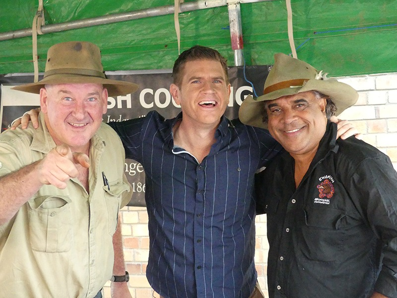 Sunrise Host Sam Mac with Ranger Nick and David Hudson